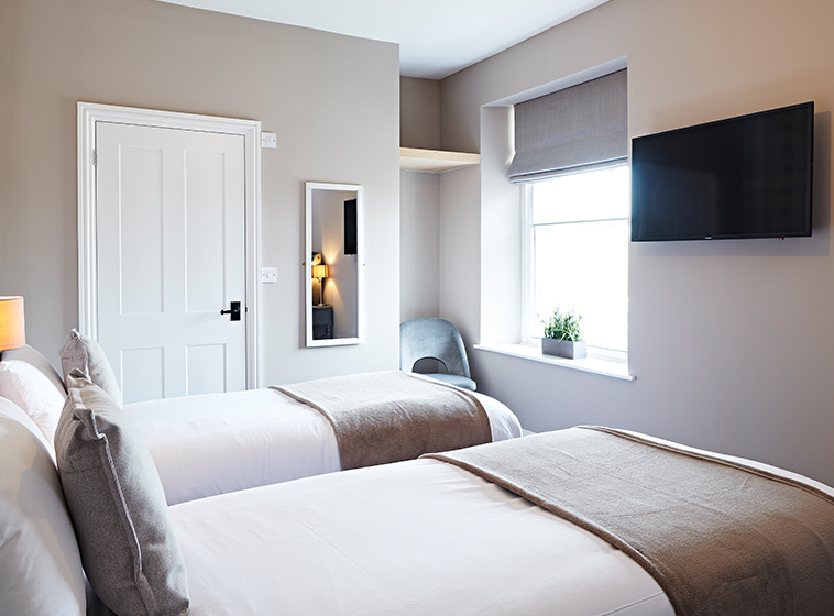 Twin Room at the Frampton Arms Pub with Rooms, Moreton Dorchester